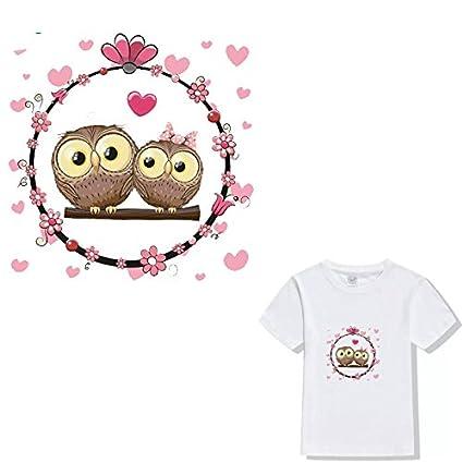 Owl Iron On Patch DIY Heat Transfer Sticker Applique Clothing Fabric T-Shirt