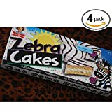 4 Boxes of Little Debbie Zebra Cakes - 10 Per Box