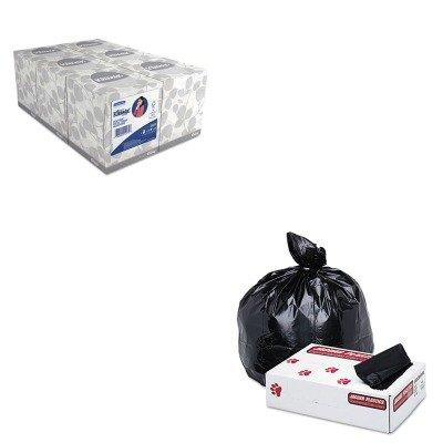 KITJAGG3858HBLKIM21271 - Value Kit - Jaguar Plastics Low-Density Commercial Can Liner (JAGG3858HBL) and KIMBERLY CLARK KLEENEX White Facial Tissue (KIM21271)