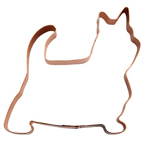 No. 1 Silky Terrier Dog Copper Cookie Cutter