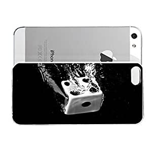 Janmaons iPhone 5/5s Case - Digital Art - Dice Falling In xWEaZ The Water Case for iPhone