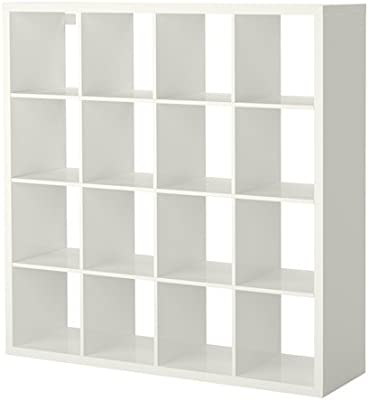 free shipping 9021a e49a2 Amazon.com: Ikea Shelf unit, high gloss white 628.057.45 ...