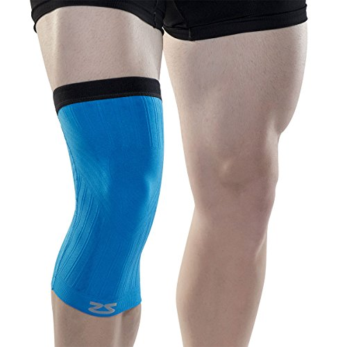 Free Zensah Compression Knee Sleeve Shorts, Large/X-Large, Blue