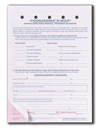 Amazon.com: Briggs Healthcare Acknowledgement of Receipt Form ...