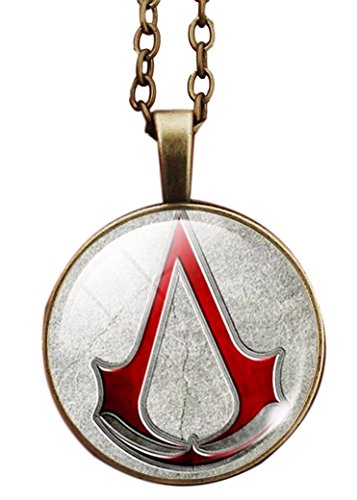 Main Street 24/7 Assassin's Creed Red Logo Glass Domed Pendant Necklace (Ac Creed Necklace)