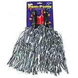 Metallic Silver Pom Poms (6 pairs)