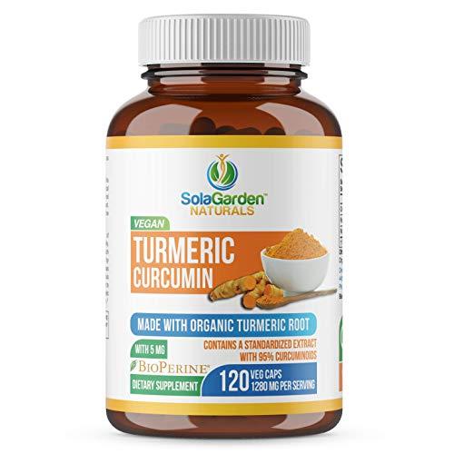Turmeric Curcumin with BioPerine - Contains Organic Turmeric Root and 95% Standardized Curcuminoids by LifeGarden Naturals. All Natural Non GMO Veggie Capsules. (120 Capsules)