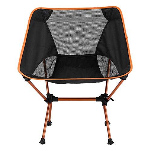 LFFCHAIR Folding Camping Chair, Ultralight Portable Fishing Chairs with Carry Bag, Aluminium Sun Lounger for Fishing, Garden, Hiking, Backpacking, Travel, Outside Seat,Orange (Aluminium Furniture Lounger Outdoor Sun)