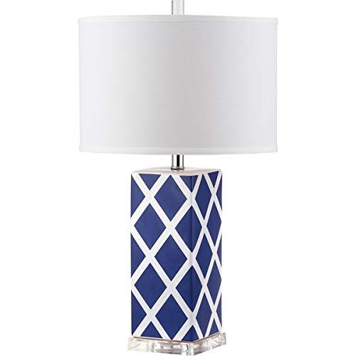 Safavieh Lighting Collection Garden Navy Lattice Table Lamp, 27