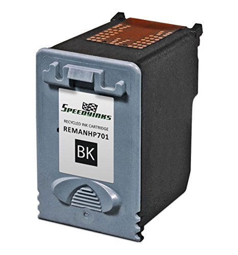 Speedy Inks - Remanufactured Replacement for HP 701 CC635A Black Ink Cartridge for use in HP FAX 640, FAX 650, FAX 2140 (Inkjet 2140 Fax)