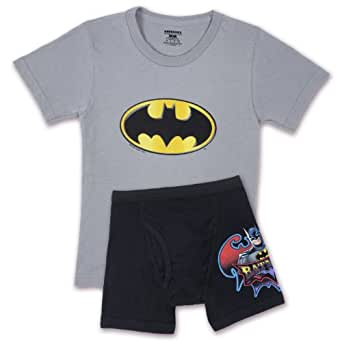 Fruit of the Loom Little Boys' Batman Underoos Prints Tee and Boxer Set, Multi, 6