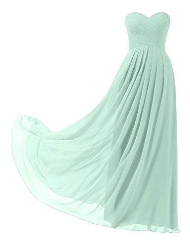 Brautjungfernkleider Chiffon Lange Elegant Ball Trägerlos Abendkleider 139 Abschlusskleid Minzgruen Abiball ZIwRnqA