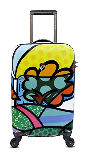 Heys USA Luggage Britto Flowers 22 Inch Hard Side Carry On Suitcase, Multi-Colored, One - Usa Flowers Heys