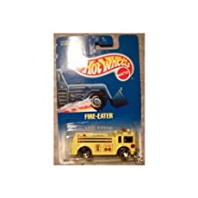 Mattel Hot Wheels 1991 1:64 Scale Yellow Fire-Eater Fire Truck Die Cast Car Collector #82