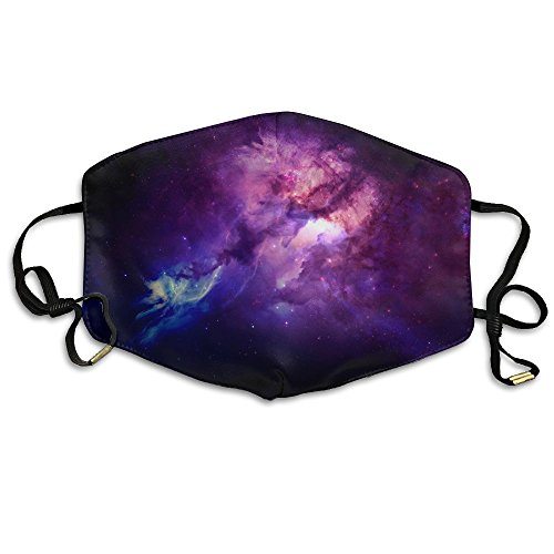 Space Purple Nebula Printed Mouth Masks Unisex Face Mask Polyester Anti Dust Masks For Men And Women