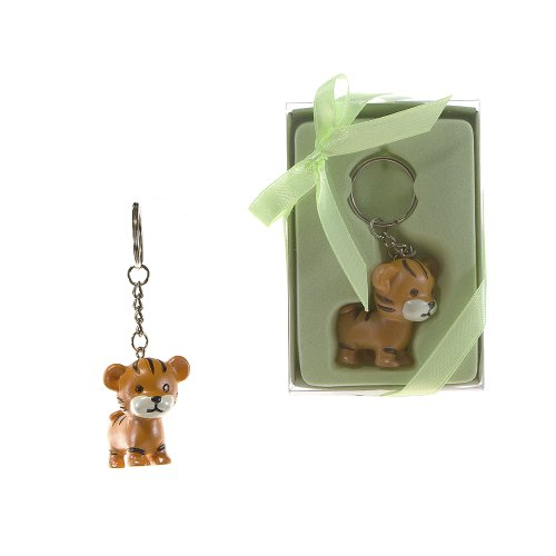(Lunaura Party Keepsake - Set of 12 Baby Tiger Key Chain Favors)