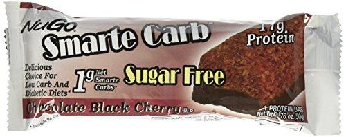Sugar Free Black Cherry (NuGo Smarte Carb Bar, Chocolate Black Cherry, 1.76-Ounce Bars (Pack of 12))