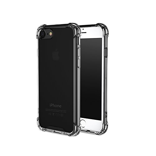 - CaseHQ Crystal Clear ClearBlack Case Compatible with iPhone 6, 6s Phone, Shock Absorption case Bumper Slim Fit,Heavy Duty Protection TPU Cover