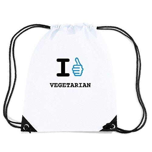 JOllify VEGETARIAN Turnbeutel Tasche GYM6160 Design: I like - Ich mag kufsSXVTk6