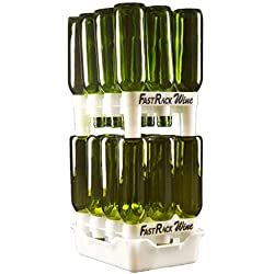 FastRack Bottle Drying Rack - Bottle Drying Tree alternative; Dry & Store your Wine or Bomber/Belgian Bottles; Perfect addition to your Wine Fermentation Kit (FastRack12 Two Racks & One Tray)