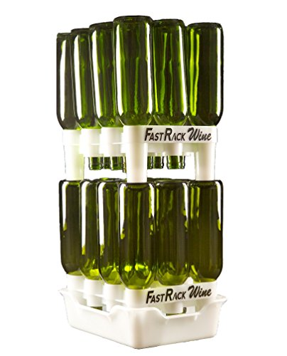 FastRack Bottle Drying Rack - Bottle Drying Tree alternative; Dry & Store your Wine or Bomber/Belgian Bottles; Perfect addition to your Wine Fermentation Kit (FastRack12 Two Racks & One Tray) by FastRack Wine