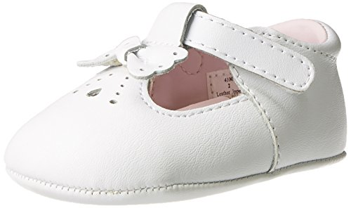 Baby Deer Leather T-Strap Flat (Infant),White,3 M US Infant - Deer Baby White Leather
