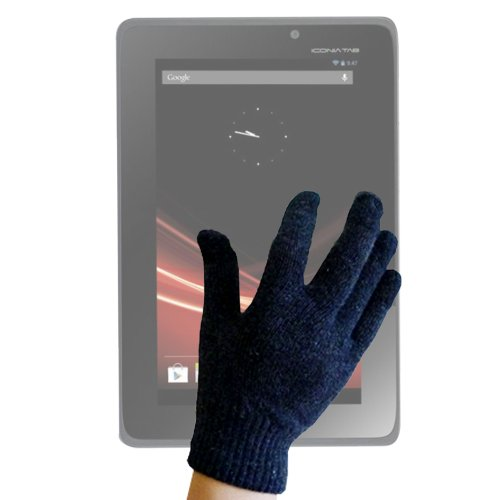 DURAGADGET Unisex Black Touch Screen Gloves 70% Wool (Small) for Acer Iconia Tab A1-810, Acer Iconia Tab B1-710 (Acer Iconia 10 Inch Touch Screen Tablet)