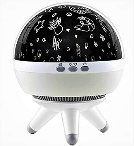 Baby Kids Night Light Projector, Ocean Space 4 Films Night Lights Projector Lamp, Rotating and Colorful Mood Nursery Soother Lighting for Baby Kids Boys Girls Toddlers Adults in Bedroom -