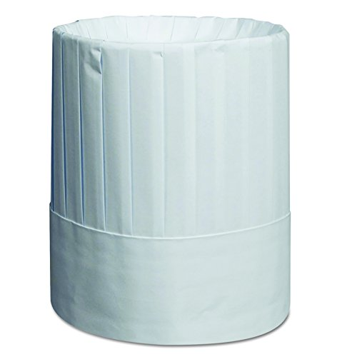 Royal RCH9 Pleated Chef's Hats, Paper, White, Adjustable, 9 In Tall (Case of 24) by Royal
