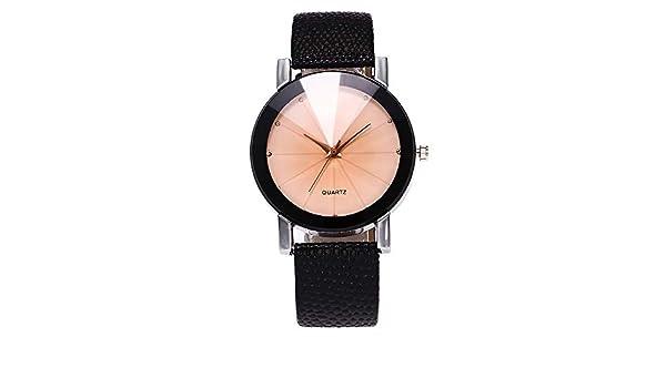 Yusealia Relojes Pulsera Mujer Despeje, Casual Reloj Banda de Cuero Parejas Relojes para Negocio Reloj Analógico de Pulsera de Cuarzo para Mujer: Amazon.es: ...