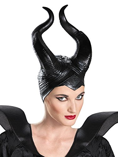 Disguise Women's Disney Maleficent Movie Maleficent Deluxe Adult Horns Costume Accessory, Black, One Size]()