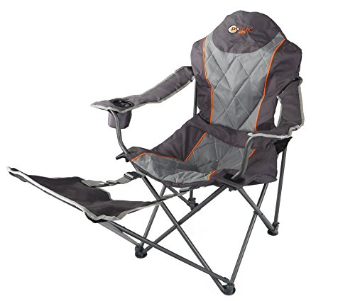 Portal Outdoors Unisex's Folding Portable Camping Armchair-Strong, Comfortable and Include Free Carry Bag-Supports up to 120kg, One Size