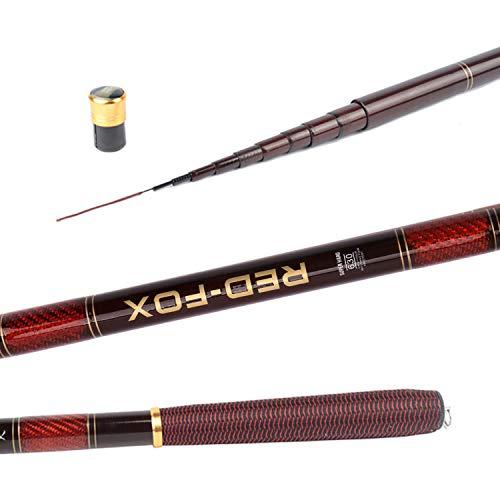 Super-fantastic-store 3.0-7.2M Stream Fishing Rod Carbon Fiber Telescopic Fishing Rod Ultra Light Carp Fishing Pole,3.0 m