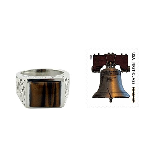 NOVICA Tiger's Eye .925 Sterling Silver Handcrafted Men's Ring, 'Warmth'