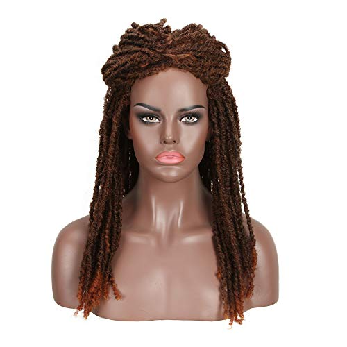 FASHION IDOL 21″ Synthetic Long Dreadlock Wig (COPPER RED MIXED & MEDIUM BROWN) – Twist Wig African Wigs for Black Women Braids – Synthetic Dreadlocks Wig – African American Wigs Beauty Personal Care