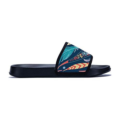 Secado Mujer para Antideslizantes Zapatillas Mágicas Rápido Diseño Negro Clásico de Plumas de wSB6axEaqC