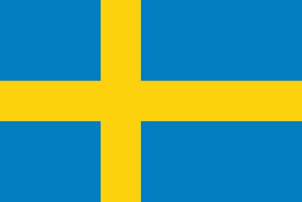 太田旗店 スウェーデン 国旗 地球にやさしい外国旗 (100×150cm) 100×150cm  B07CG1MTGM