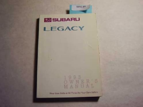 1993 subaru legacy owners manual subaru amazon com books rh amazon com 1993 subaru legacy repair manual pdf 1993 subaru legacy service manual