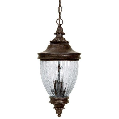 - Capital Lighting 9767TS Battery Park 3-Light Outdoor Hanging Lantern, Tortoise with Seeded Glass