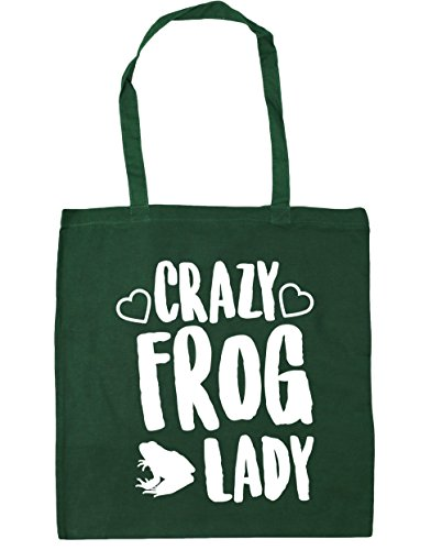Gym HippoWarehouse Green Bottle 42cm Beach lady Crazy Tote litres Shopping Bag 10 x38cm frog xXqwf1XZB