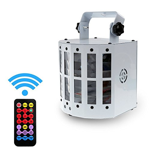 Yeahplus Upgrade Led Stage Light with Satr Shower Pattern,9 LEDs Speed Adjustable Voice-activated Remote Control LED Disco Stage Light