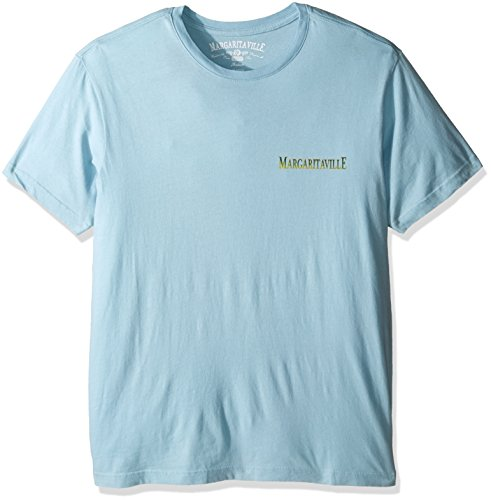Margaritaville Men's Short Sleeve Online T-Shirt, Mist, XX-Large