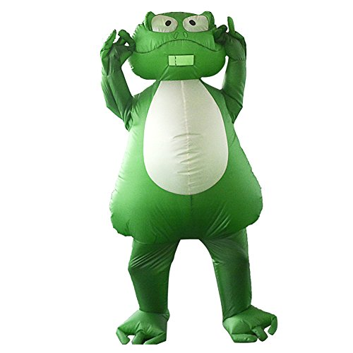 Toad Costumes For Adults (Inflatable Frog Toad Chubsuit Blow Up Funny Fancy Animal Cosplay Costume)