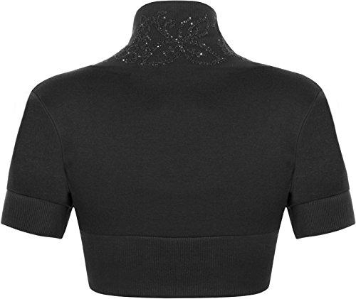 cardigan courtes 36 WearAll 42 Manches Hauts Femme Noir Tailles EP7Bvqw