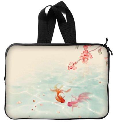 Beautiful Design Goldfish Handle Macbook, Macbook Air 13 inch Laptop Sleeve / Laptop Bag / Laptop Cover / Laptop Sleeve Macbook Air Case Bags (Twin Sides)