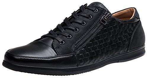 SHENBO Mens Designer Lace Up Casual Shoes For Men Drak