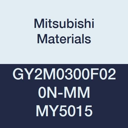 0.008 Corner Radius 0.118 Grooving Width F Seat Pack of 10 Mitsubishi Materials GY2M0300F020N-MM MY5015 Series GY Carbide Grooving Insert for Multifunctional and Medium Feeds 2 Teeth