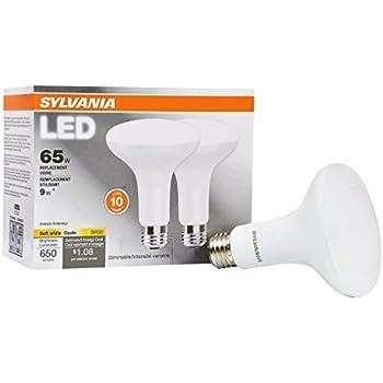 sylvania 65w equivalent led light bulb br30 lamp 2 pack soft