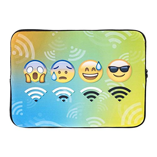 Creative Laptop Bag, Fashion Luxury Design Cute Emoji Series Ultra-Thin Waterproof Portable Computer and Tablet Shoulder Bag Messenger Bag for Women and Men, Suitable for Sizes Below 14 Inches ()