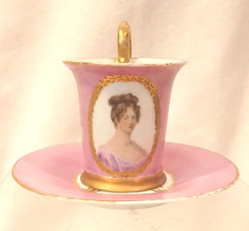 Demitasse Germany (Germany Collectible Demitasse Tea Cup, Petite Tea Cup Expresso Cup Pink Germany Silhouette)